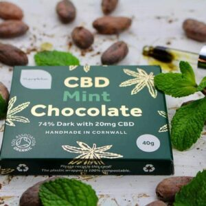 Mint Flavour CBD Dark Chocolate Bars