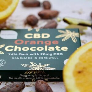 Orange Flavour CBD Dark Chocolate Bars
